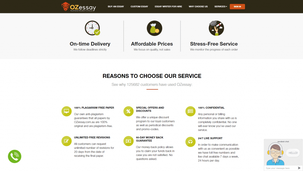 Ozessay.com.au review design