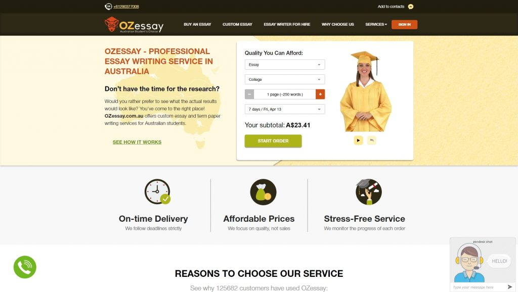 Ozessay.com.au review about us
